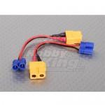 [XT60F-EC2M]XT60 to EC2 Losi Charging adapter (2pcs/bag) 16530