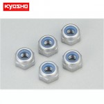[KY1-N3033NA-S]Nut(M3x3.3)Nylon(Aluminium/Silver/5pcs)